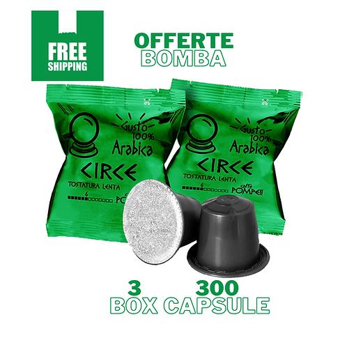 300Capsule di Caffè Compatibili Nespresso* Circe -Arabica