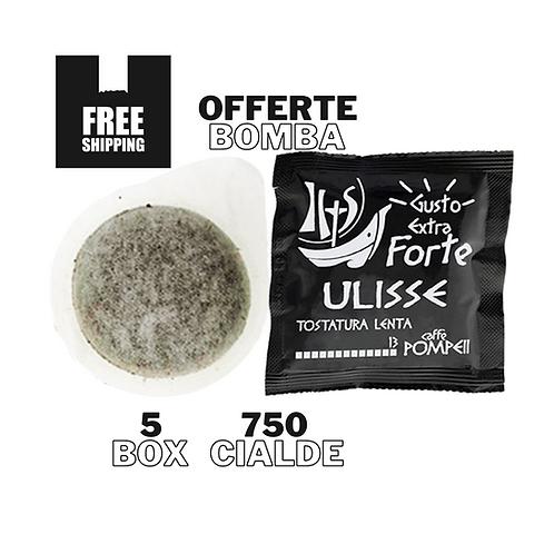 750Cialde Caffè Filtro Carta Ulisse -Gusto Extra -Forte