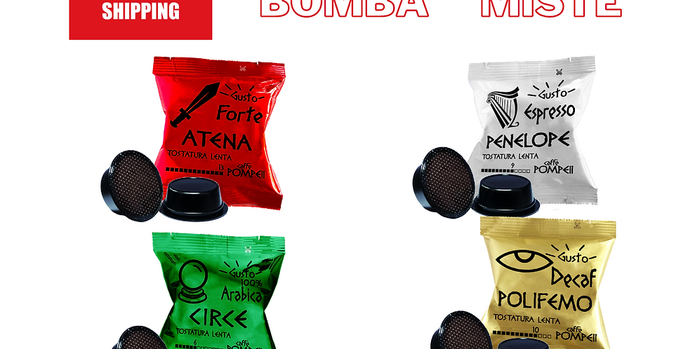 400 Coffee capsules compatible with AmodoMio * - Mixed flavors