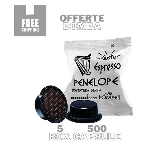 500Capsule Caffè Compatibile Amodomio* Penelope - Espresso Classico