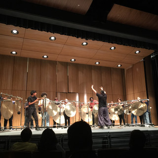 Students perform with the Nakatani Gong Orchestra