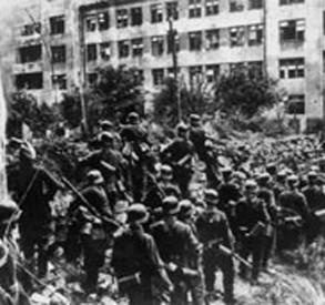 Вермахт в оккупированном городе