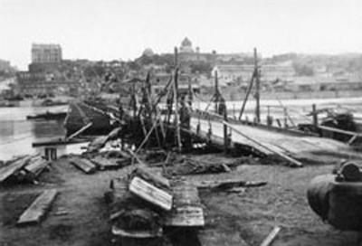 Переправа через Дон. 1942 год. Вид с левого берега на город