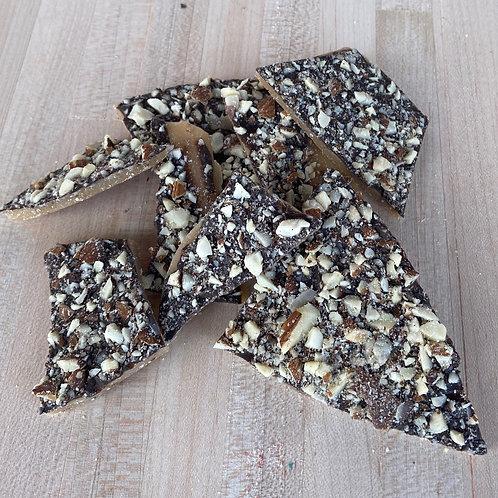 Dark Chocolate Almond Toffee  8oz Bag