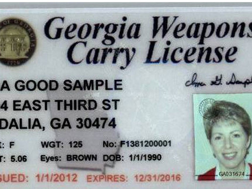 Apply for you Georgia Weapons Carry License