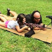 Carl Hirt Spotting for his daughter