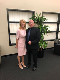 Kellyanne Conway, Counselor to President Donald Trump and Sean Mahar Swat Sniper and Tactics and Head Firearms Instructor at Hirts Defensive Solutions LLC