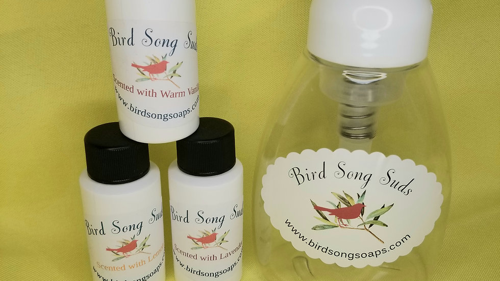 BirdSong Suds- Pump & 1 scent
