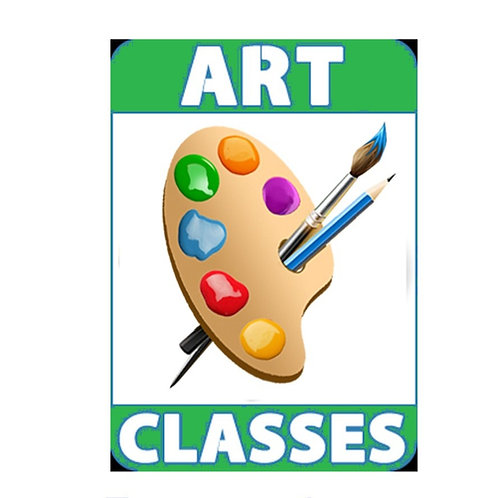 Art Class Intermediate AGE 8 - 10 Monthly Progressive classes