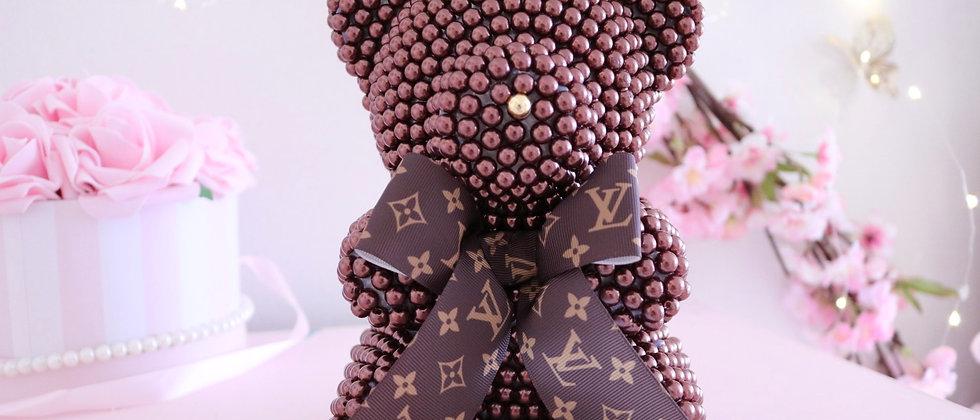 "8 1/2"" LV Chocolate Pearl Bear"
