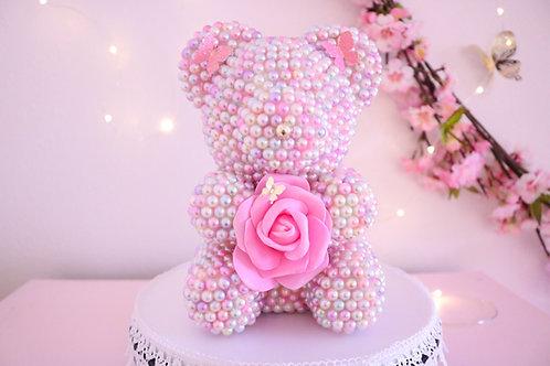"8 1/2"" Mini Cotton Candy Pearl Bear"