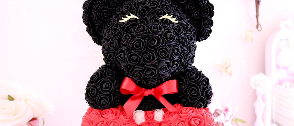 Red & Black Rose Bear