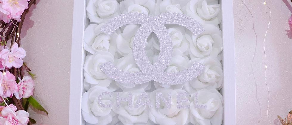 """10"""" Silver glitter Rose Frame"""