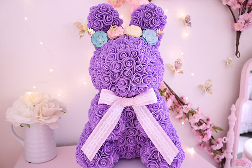 "17"" Purple Rose Bunny"
