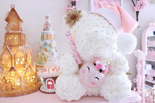 "15"" Unicorn CHRISTmas Rose Bear"