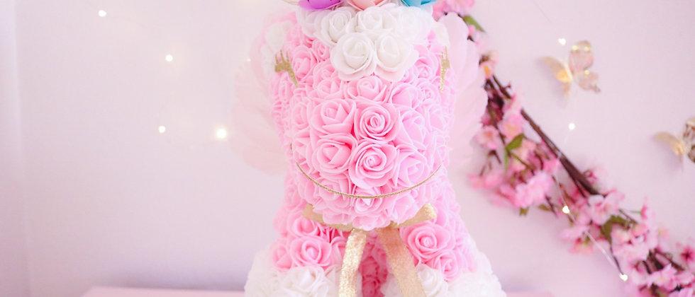 "13"" Pink Rose Unicorn"