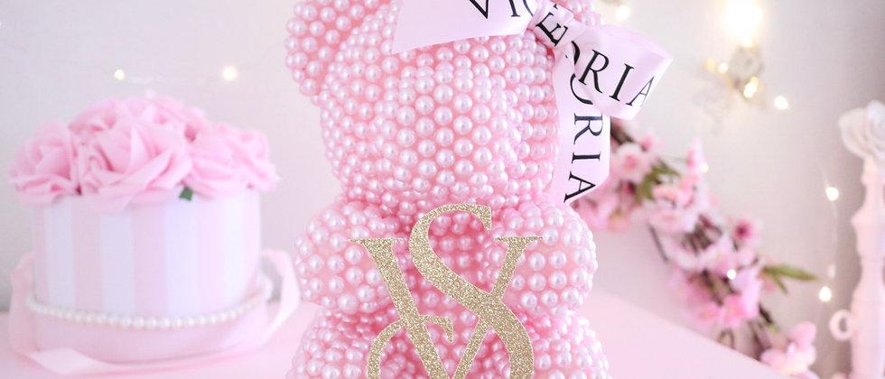 "8 1/2"" Mini Limited Edition VS light pink Pearl Bear"