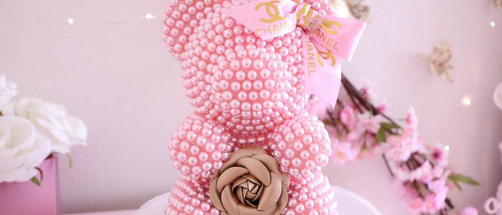 """8 1/2"""" Mini Pink Pearl Bear"""