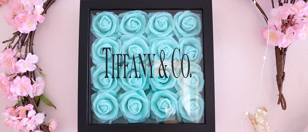 "10"" Black & Green Rose Frame"