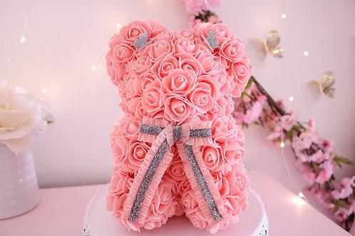 "10"" Mini Coral Rose Bear"