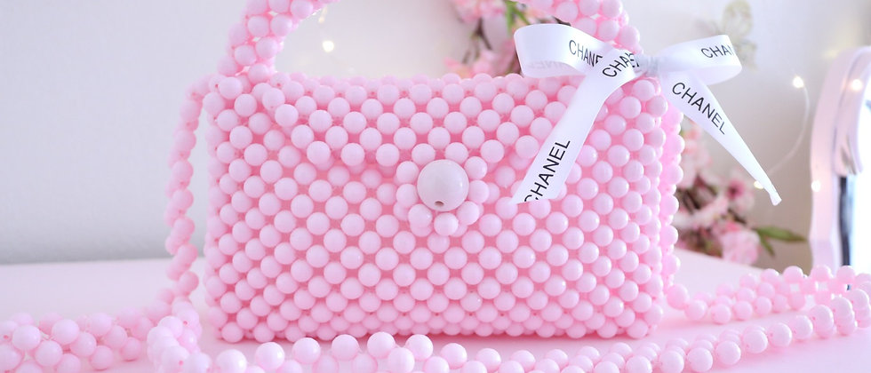 Pink Beads Bag
