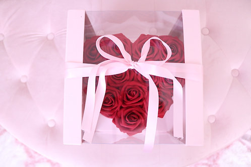 Rose Heart Box Red