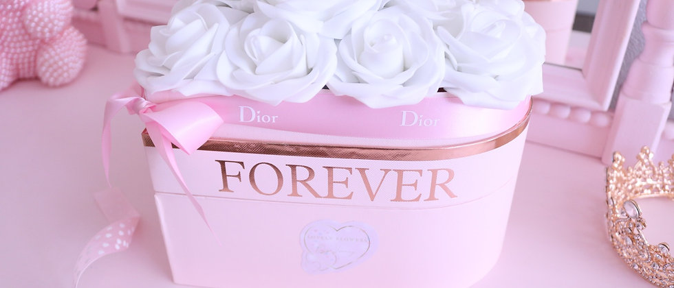 White Rose Shaped heart