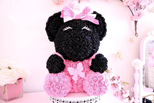 Pink & Black Rose Bear