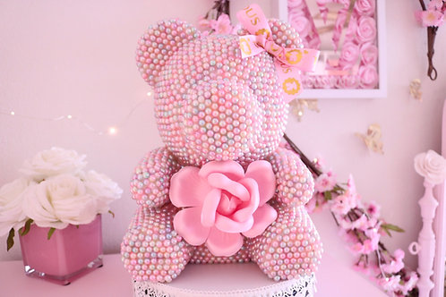 """13"""" Deluxe Cotton Candy Pearl Bear"""