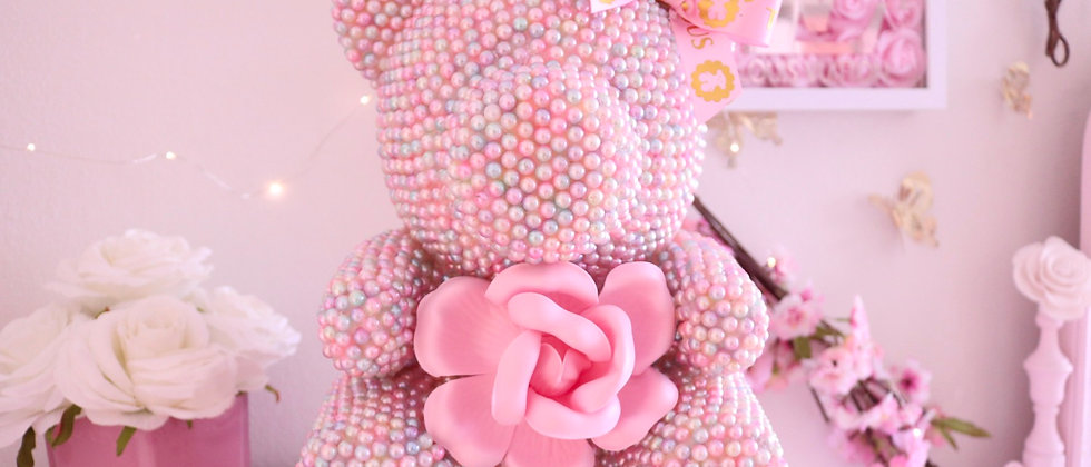 "13"" Deluxe Cotton Candy Pearl Bear"
