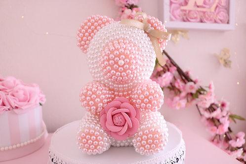 Pink & White Pearl Bear