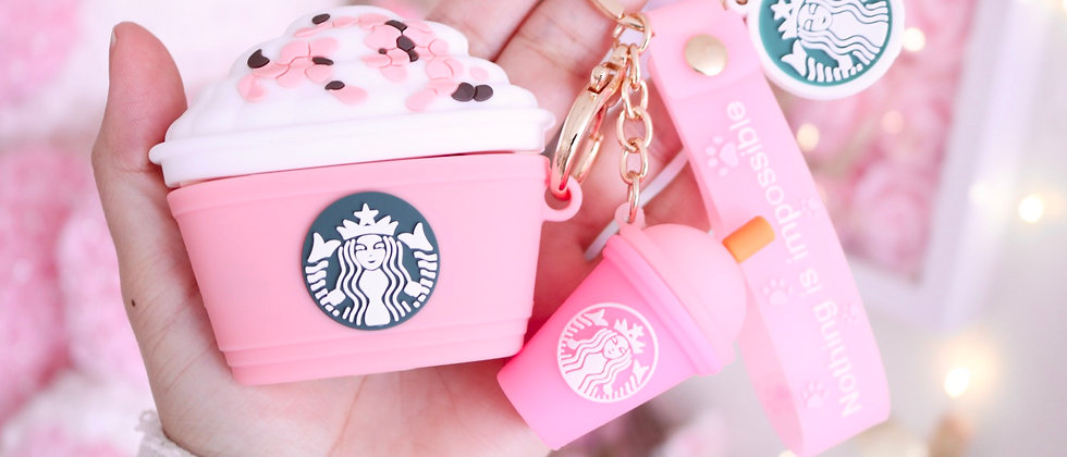 Sts Pink cup AirPods Pro case & Keychain