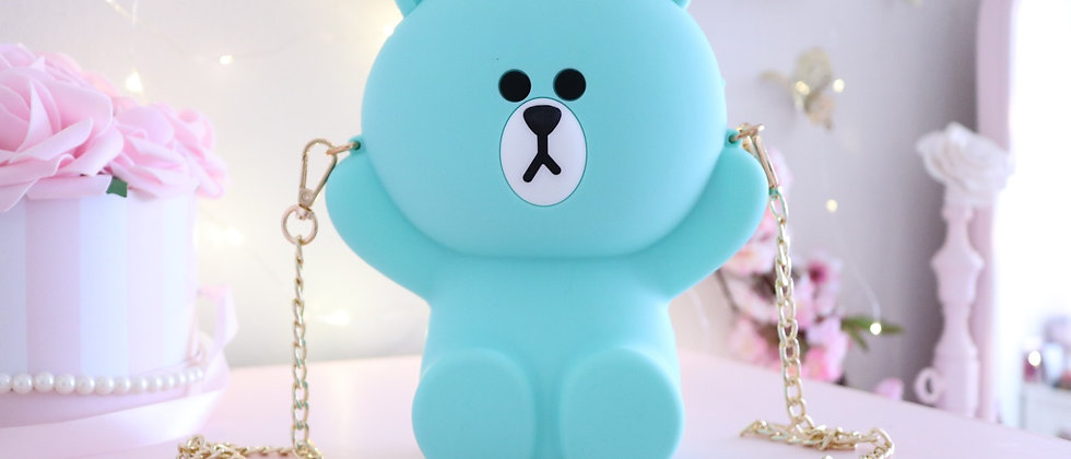 Teal Bear bag