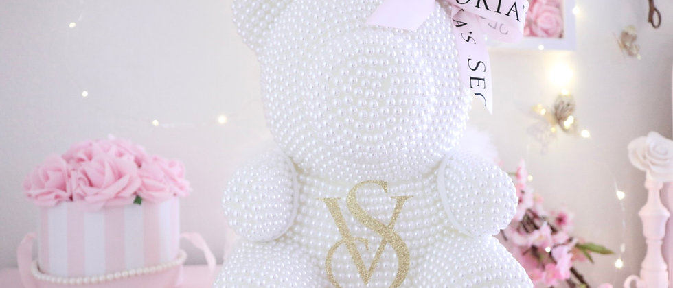 """13"""" Limited Edition VS White Pearl Bear"""