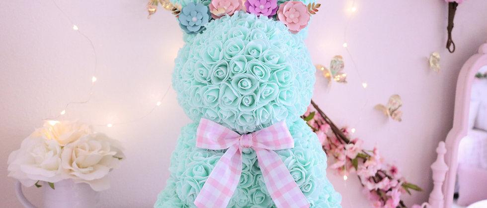"17"" Mint Rose Bunny"