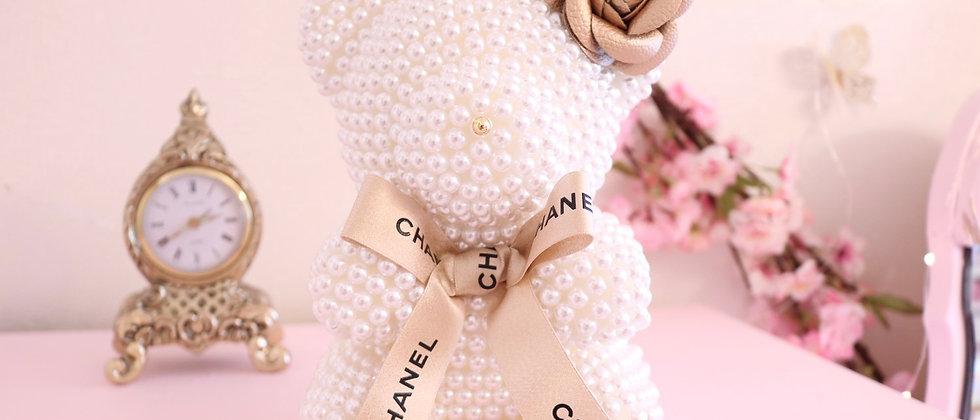 "8 1/2"" Mini Pearl Bear Princess CC Gold"