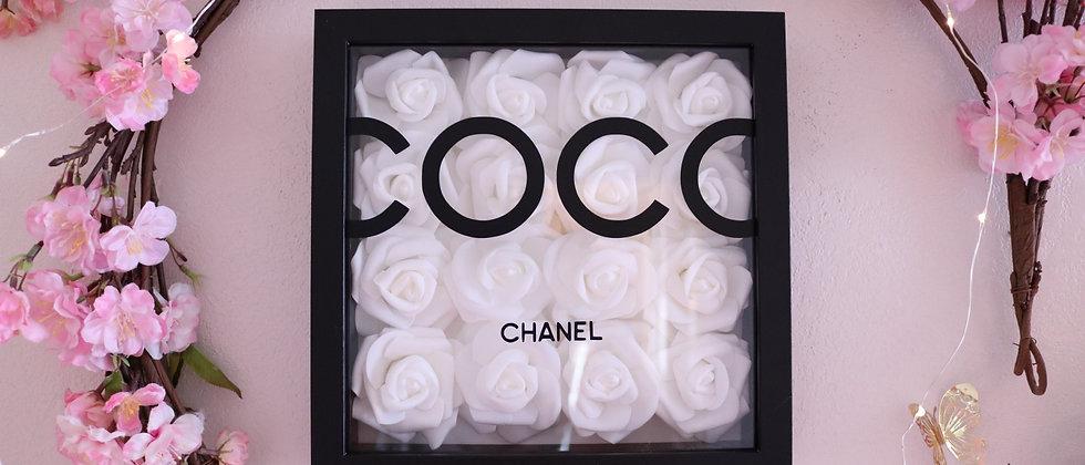 """10"""" Black & White Rose Frame"""