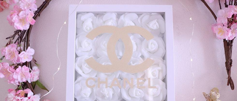 """10"""" Gold Glitter Rose Frame"""