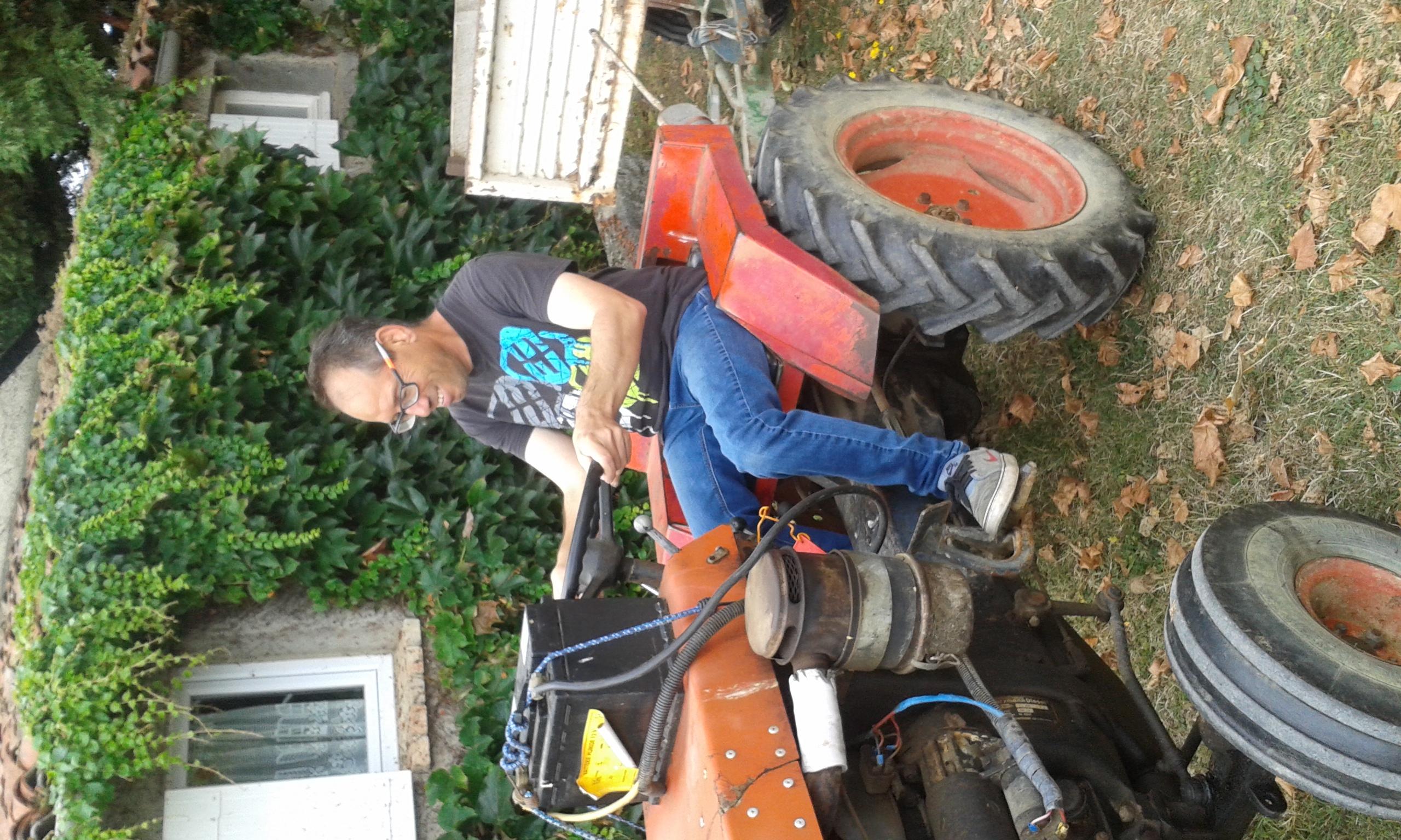 Essai du tracteur pour Michel B