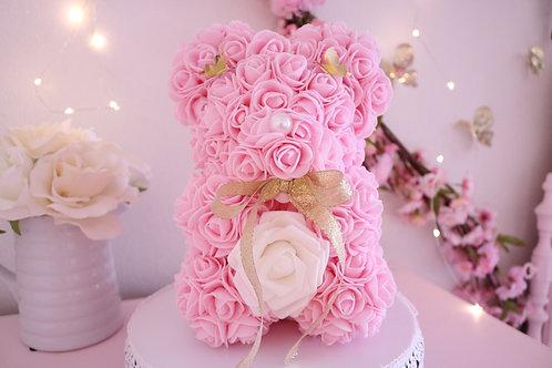 "10"" Isabell Pink Rose Bear"