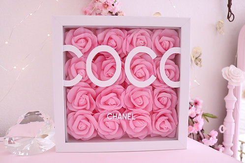 "10"" Pink & White Rose Frame"