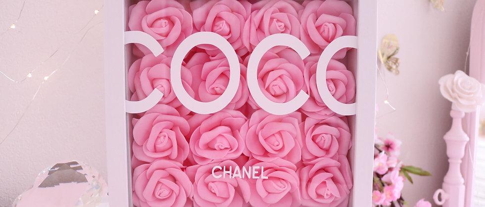 "10"" Pink & White Rose Frame"