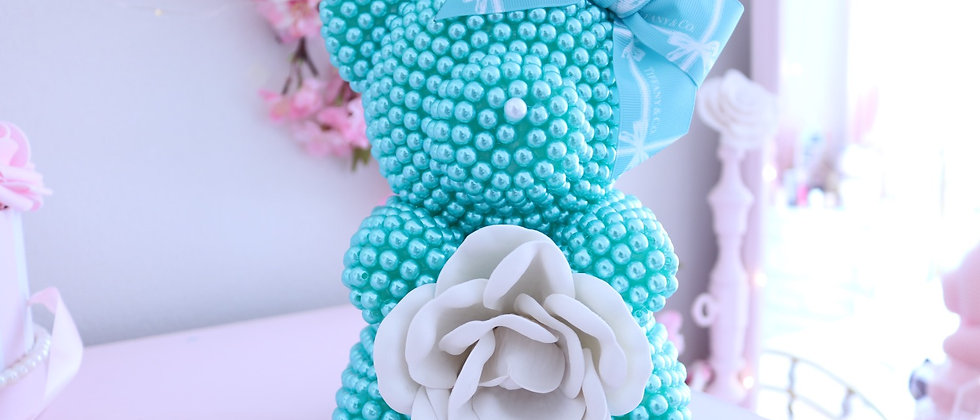 """8 1/2"""" Miss Tiffany mini Pearl Bear"""