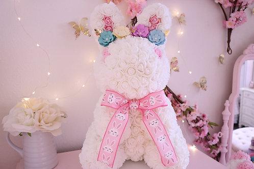 "17"" White Bunny"
