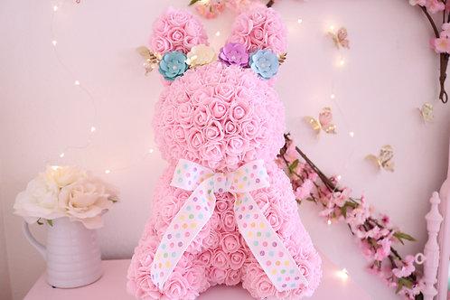 "17"" Pink Rose Bunny"