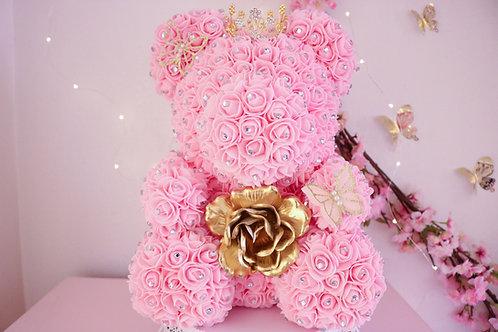 "15"" Vianey Rhinestones Rose Bear"