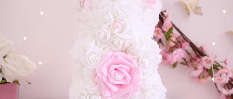 "10"" White Rose bear"