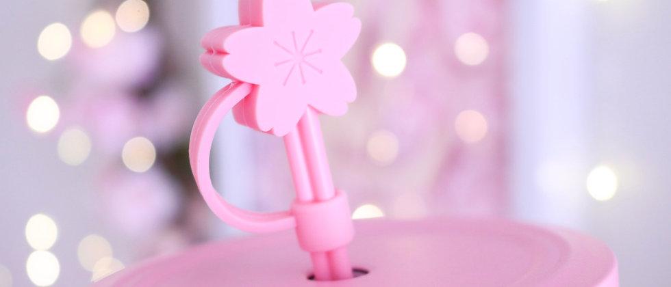 2 pcs Cherry Blossom straw topper