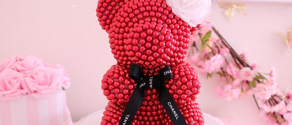 Dark Red Pearl bear