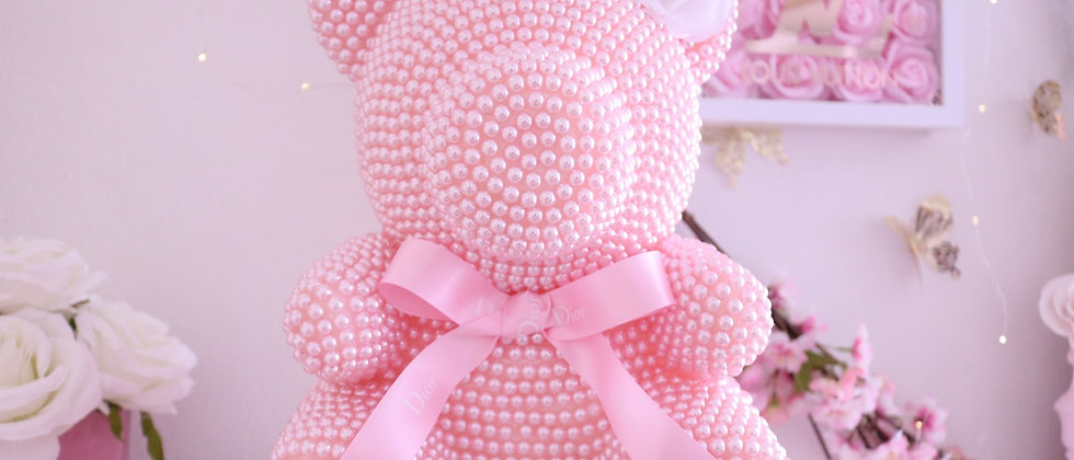 """13"""" Deluxe Pink Pearl Bear"""